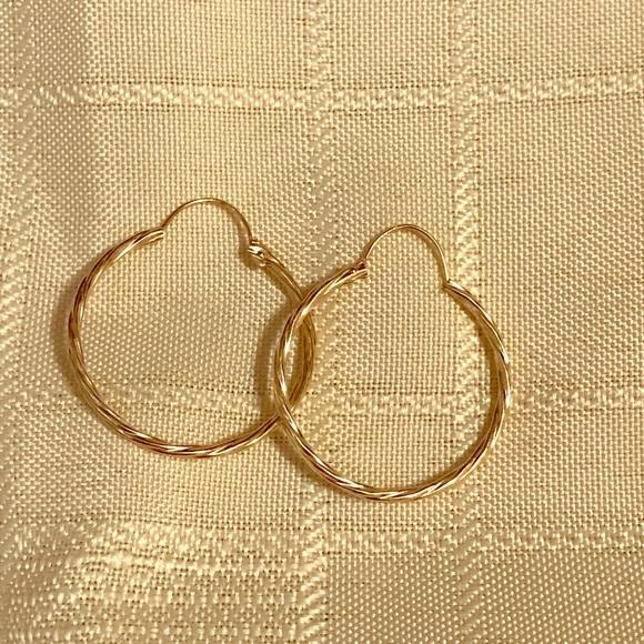 Jewelry 10 Karat Gold Hoop Earrings Poshmark